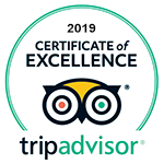 2019 Certificate of Excellence - TripAdvisor