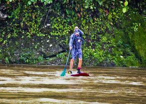 Pacuare first SUP run SUP white water river Pacuare in Costa RIca