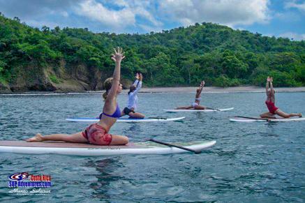 stand up paddle and yoga